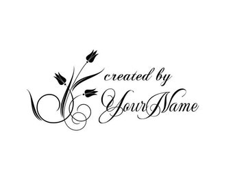 Handle Mounted Personalized custom made rubber stamps C04