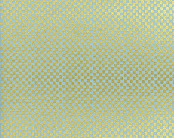 Checkers Mint METALLIC - Amalfi- Anna Bond Rifle Paper Co - Cotton + Steel - AB8049-003