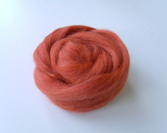 25g wool felting or spinning Merino Cardee combed Tango Orange color