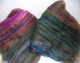 Wool Blend Batts for Hand Spinning Yarn