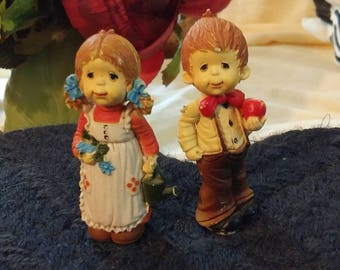 Miniature vintage cute little couple
