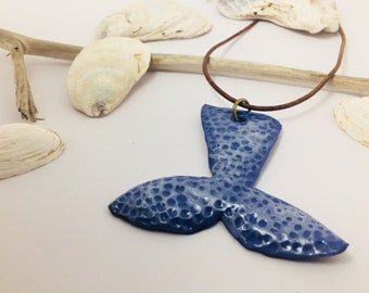 Mermaid Tail Necklace Whale Necklace Whale Tail Jewelry Fish Jewelry Polymer Clay Jewelry Mermaid Jewelry Animal Jewelry Gift for Her