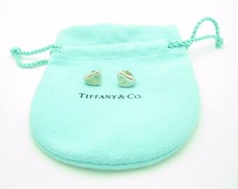 Tiffany & Co. Sterling Silver Elsa Peretti Full Heart Earrings
