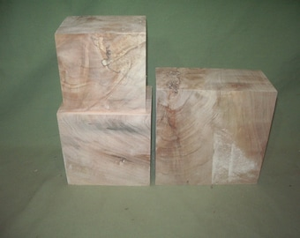 Three Maple Bowl Blanks With Challenging Figure