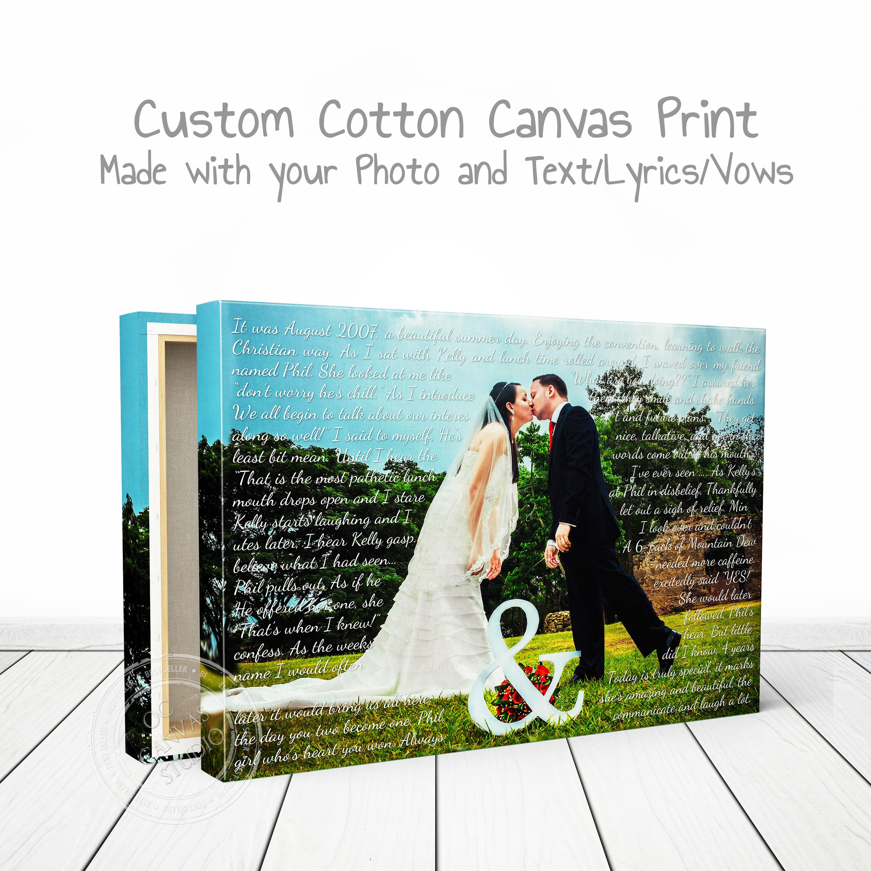 Wedding Song Lyrics Photo Canvas Print Lyrics On Canvas