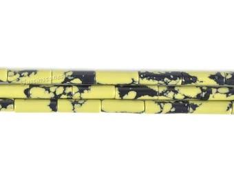 "13mm Synthetic Chrysoprase Cylinder tube loose gemstone beads 16"""