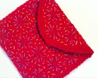Felt Wallet - Hand Embroidered