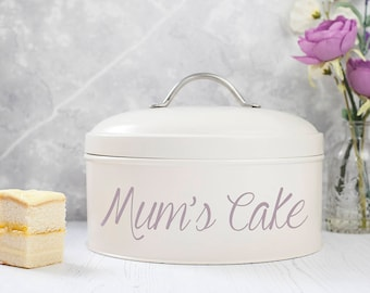 Personalised Cream Cake Tin