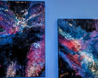 """Resin Painting titled """"Eye of the galaxy""""!"""