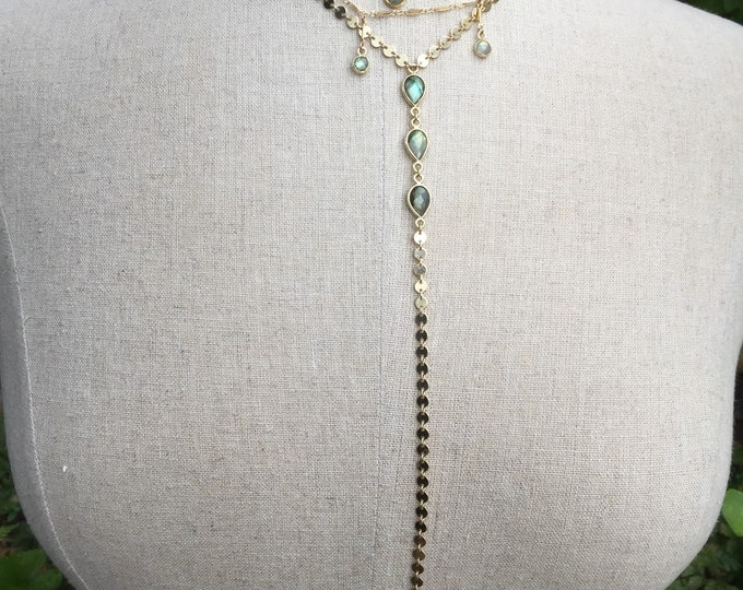Labradorite Collection/Labradorite Coin Lariat