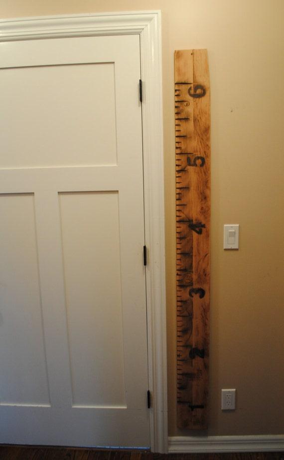 Growth Chart, Reclaimed Wood, Handmade