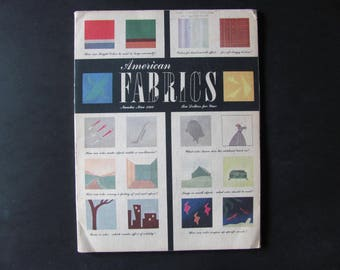 1949 American Fabrics Magazine, Number 9, Fashion and Textiles 1940's, Apparel Trends 40's, Textile, Costume, Fashion Research, Inspiration