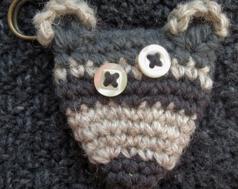 Raccoon Blanket Pin Brooch