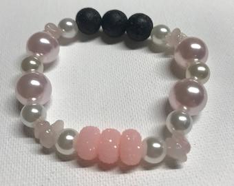Pink Princess Pearls Essential Oil Diffusing Bracelet