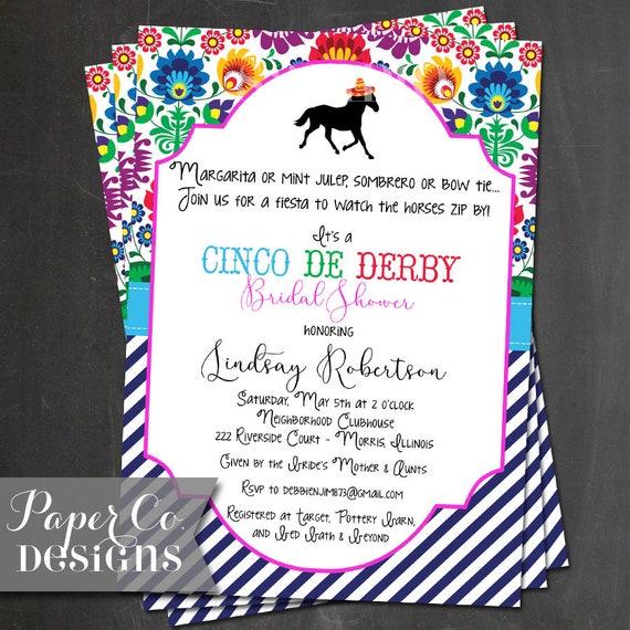 cinco de derby derby de mayo preppy design printable or