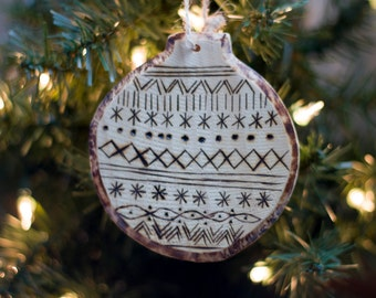 Sweater Wood Christmas Ornament
