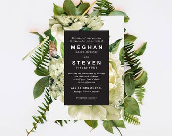 greenery watercolor wedding invitations, wedding invitation with greenery, greenery wedding invitation, floral greenery wedding invitation