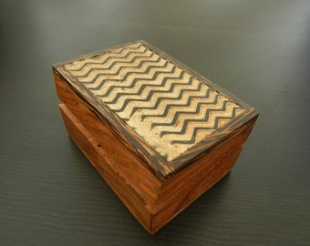 Lovely vintage wooden jewelry box.