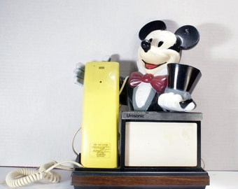 1980s, Mickey Mouse, Unisonic, Push Button Phone, Magician, Disney Gifts, Disney, Mickey Mouse Phone, Novelty Phone, Corded Phone,Disneyana