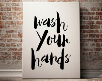 Wash Your Hands, Bathroom Print, Funny Bathroom Art, Funny Bathroom Decor, Funny Bathroom Printable, Printable Bathroom Art