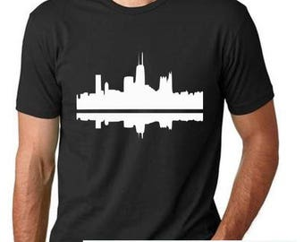 Chicago Skyline - Mens and Womens Tops