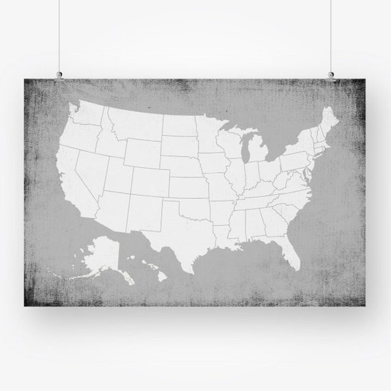 large us map poster