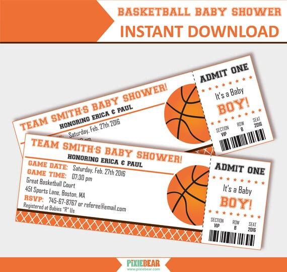 Charming Basketball Baby Shower Invitation Baby Shower Invitation For