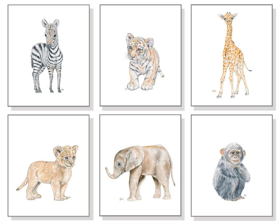 Safari Nursery Prints Safari Nursery Art Baby Animal Nursery