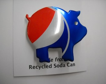 Magnet Pepsi Pig Recycled Can Pin