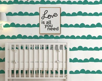 Baby Nursery Decal. Wall Stripes Decal with Wallpaper effect. Stripe Wall Decal for home or office - AP0025