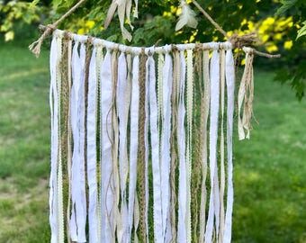 Natural Stick Wall Hanging| Boho Decor| Wall Hanging| Hippie Boho Chic| Shabby Chic Decor