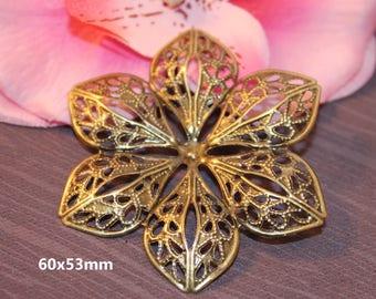 Prints charm filigree flower Bronze 60x53mm - SC16294 - 10