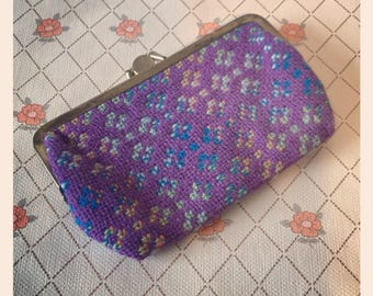 Welsh Tapestry Purse circa 1960 - 1970 - Purple