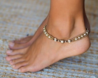 com online rosegal leg for sale bracelets gold tube women foot female bent anklet ankle cheap anklets glazed plated