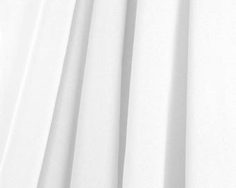 """60"""" Wide - High Quality 100% Polyester Chiffon Sheer Fabric - WHITE"""