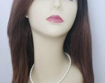 Pearl Necklace, Swarovski Necklace, Pearl Wedding Necklace, Bridesmaid Necklace, Bridesmaid Gift, Maid of Honor Gift, Wedding Necklace