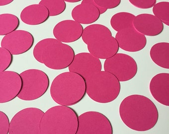 Pink Circle Confetti (1 inch), Baby Girl Shower Confetti, Pink Paper Circles, Baby Girl Shower Decor