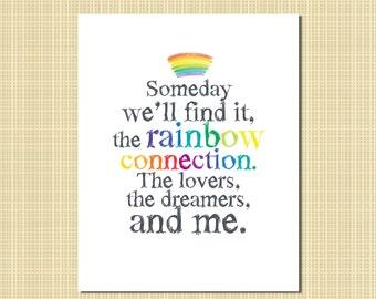 rainbow connection print