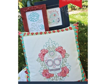 The Quilted Fish - La Vie Boheme Iron-On Embroidery Pattern by Amanda Herring