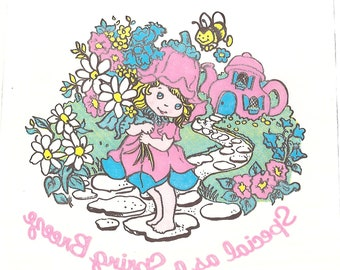 """Vintage 1980's Avon """"Little Blossom And Friends"""" Iron-On Transfers 3 9"""" x 9"""" each"""