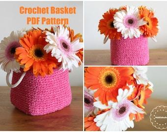 Crochet Rectangle Basket pattern, Crochet rectangle pdf pattern, crochet BASKET pdf, pdf Crochet Basket,crochet storage basket, crochet pdf