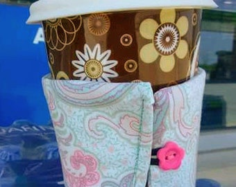 Fabric reusable coffee sleeve
