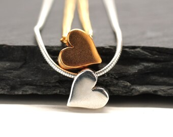 Valentine Necklace , Sterling Silver Necklace , Gold Necklace , Heart Necklace , Sweetheart Gift , Valentine Gift , Minimalist ,  Amy Fine