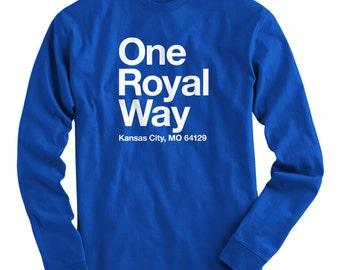 LS Kansas City Baseball Stadium Tee - Long Sleeve T-shirt - Men S M L XL 2x 3x 4x - KC Shirt, Fan, Sports - 4 Colors