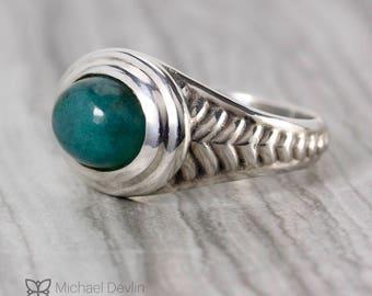 Men's Silver Chrysocolla Ring