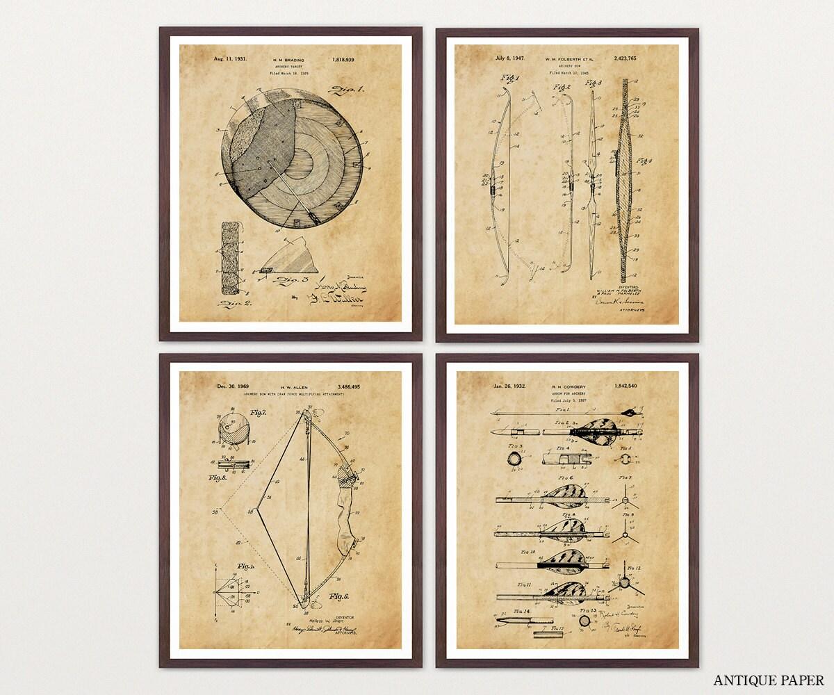 Archery Patent Art - Archery Poster - Archery Art - Archery Wall Art ...