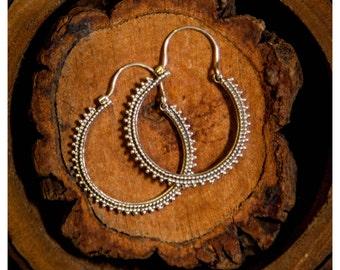 Hoop earrings, Dainty Indian Silver Hoops, Indian Tribal hoops, Ethnic earrings, Ethnic, Bohemian earrings, Tribal jewelry, Ethnic jewelry