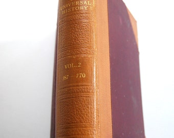 Antique  Book, The Library of Universal History