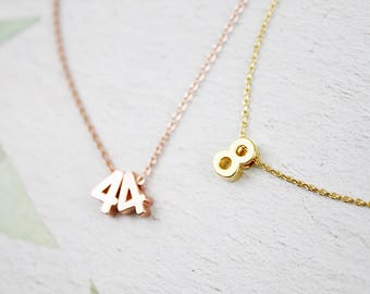 Number Necklace . Dainty Everyday Necklace . Bridesmaid Gift Bridesmaid Necklace Birthday Gift Anniversary for gift