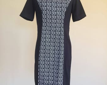 Black and White Panel Dress